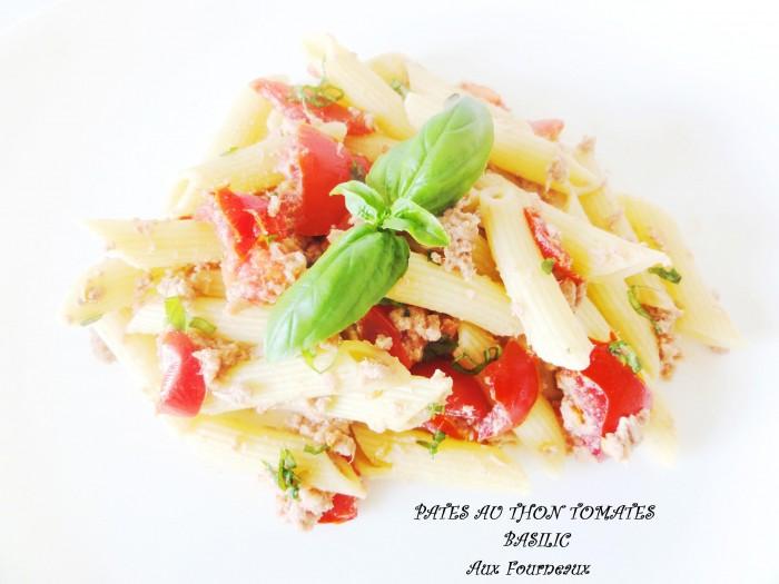 salade de p tes au thon tomates basilic aux fourneaux. Black Bedroom Furniture Sets. Home Design Ideas