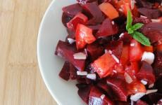 salade de betteraves tomate parmesan