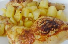 cuisse de poulet rotie sauce curry