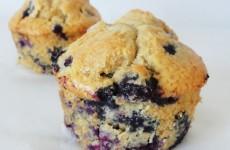 Muffins aux myrtilles fraiches