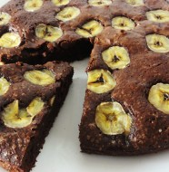 Gateau fondant chocolat banane