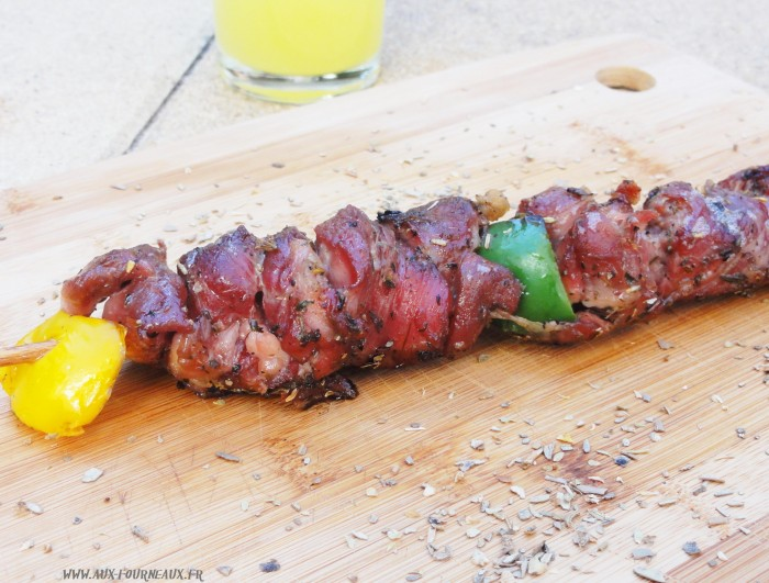 brochette d agneau au barbecue