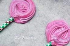 Meringues roses fete foraine
