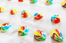 meringue rainbow