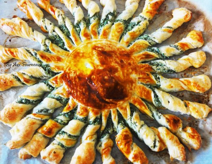 tarte soleil au beurre d 39 ail aux fourneaux