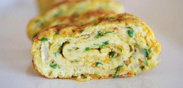 Omelette roulée apéritive
