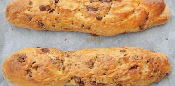 Baguette viennoise au chocolat