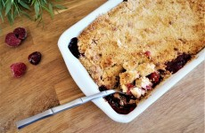 crumble pomme framboise