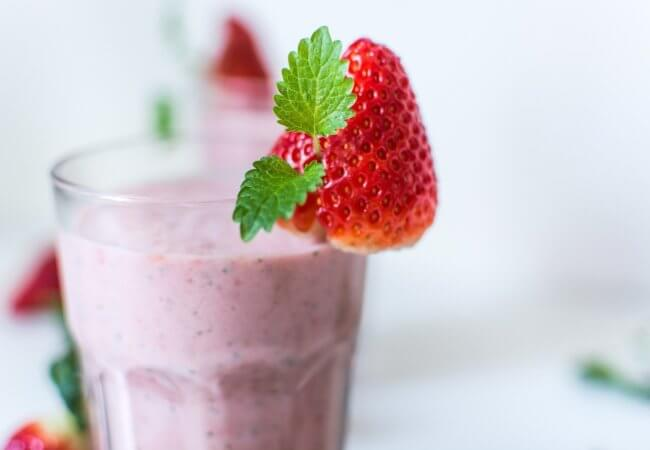 Smoothie fraises banane