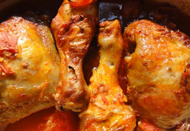 Poulet aux tomates et vinaigre balsamique