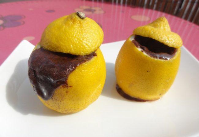 Douceur de chocolat cuit dans un citron
