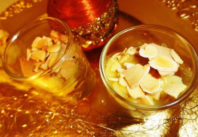 Foie gras aux pommes caramélisées de Noël
