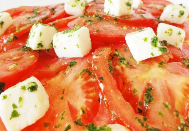 Tomates en salade toute simple