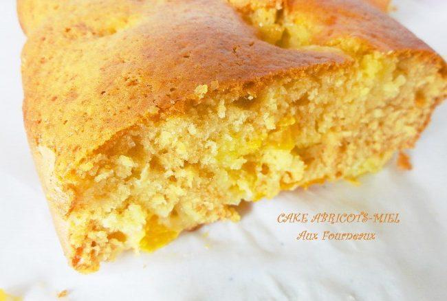 Cake abricots miel