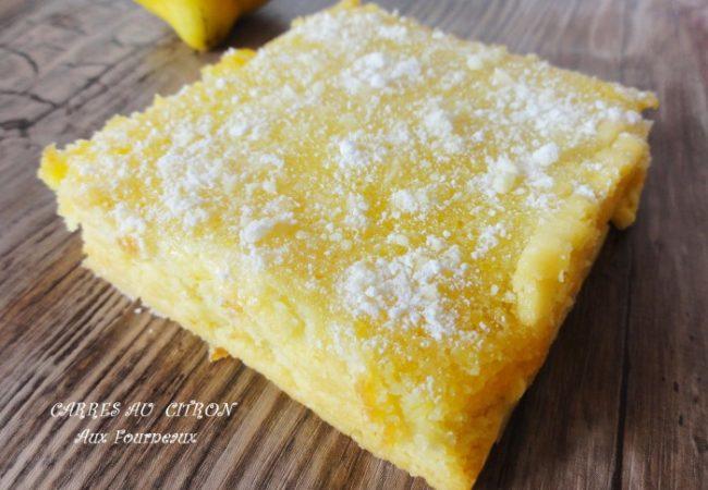 Carrés au citron { Lemon bars }