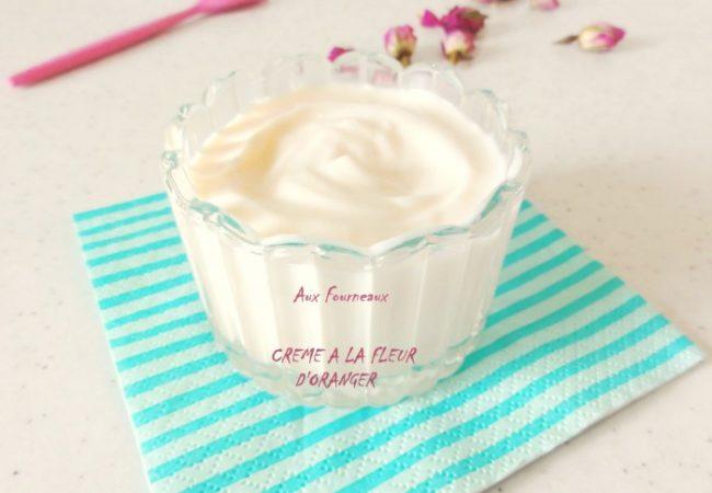 Crème à la fleur d'oranger et au miel