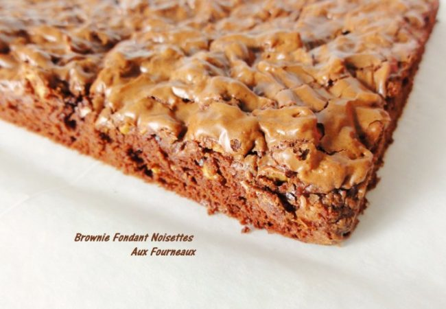 Brownie fondant noisettes