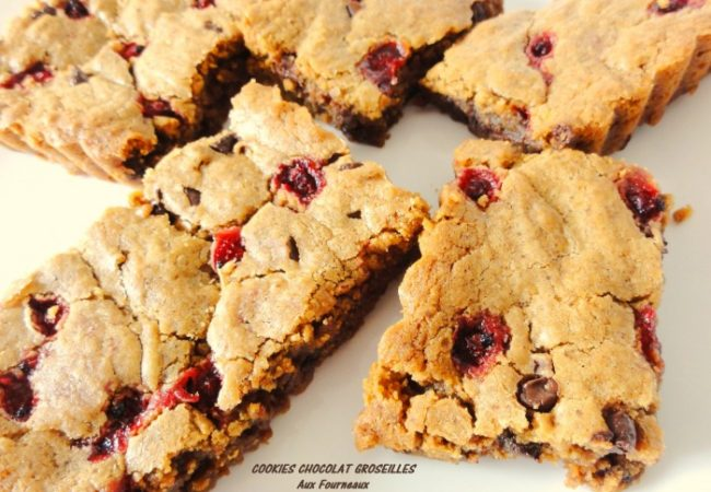 Blondies Cookies chocolat groseilles