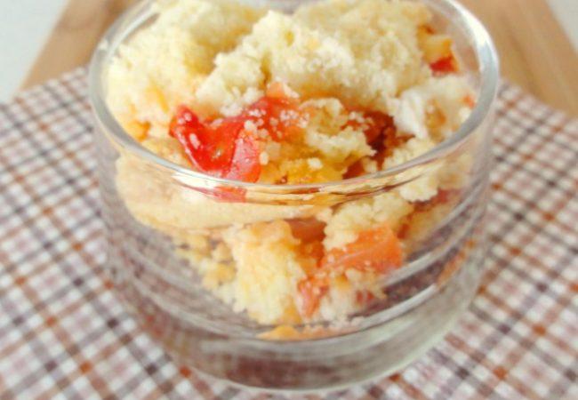 Crumble de tomates chèvre et miel