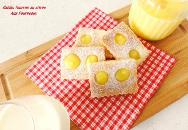 Sablés fourrés au citron