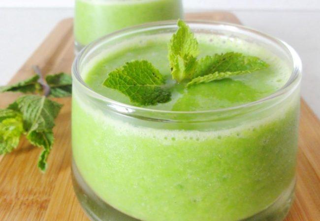 Soupe de petits pois menthe citron vert