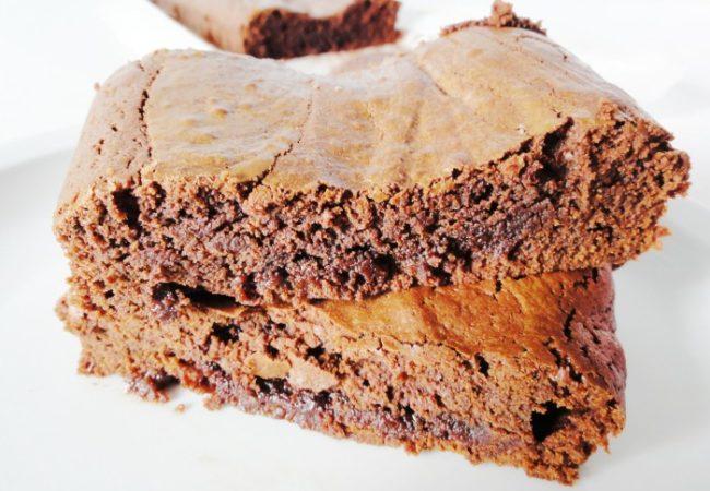 Brownies chocolat menthe