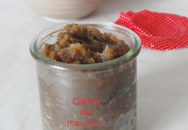 Crème de marrons facile