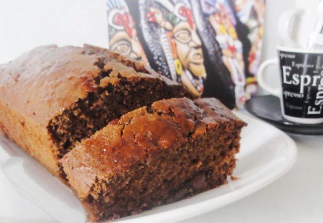 Cake au chocolat basilic