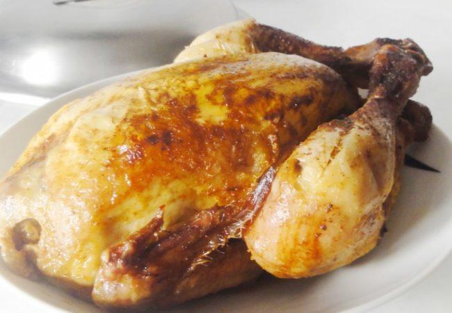 Poulet rôti au beurre de sauge