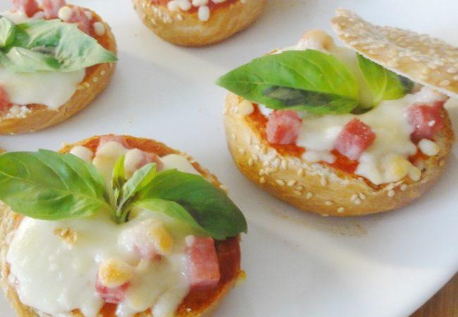Bagels façon pizza