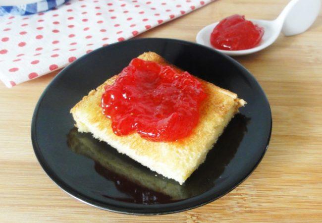 Confiture de fraises mentholées