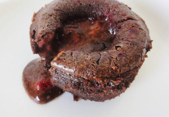 Fondant au chocolat framboise de Pierre Hermé