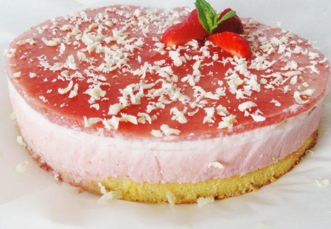 Bavarois aux fraises sans gélatine