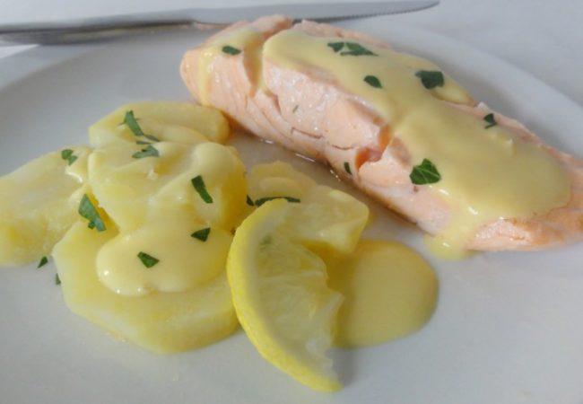 Saumon au beurre blanc