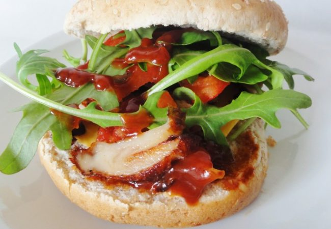 Burger poulet sauce barbecue