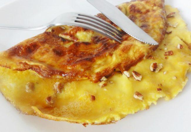Omelette sucrée au sirop d'érable