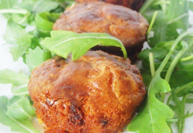 Muffins salés chorizo et chèvre