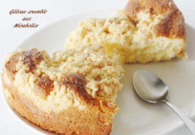 Gâteau crumble aux mirabelles