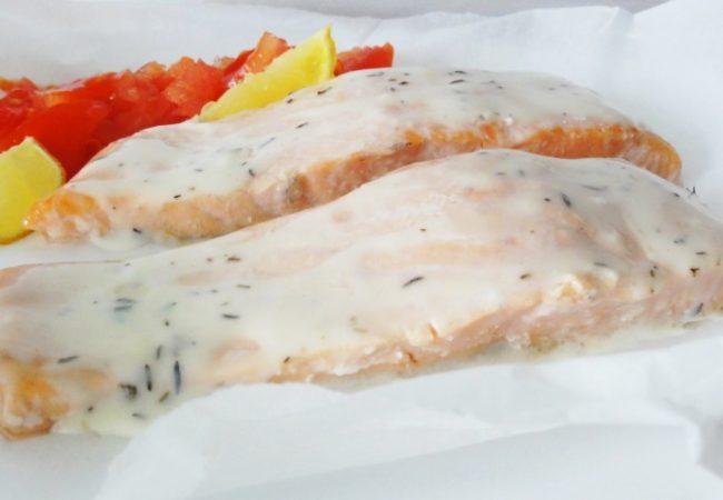 Papillote de saumon sauce hollandaise