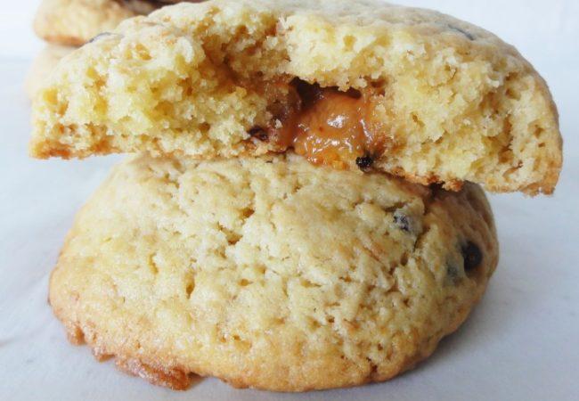Cookies fourrés coeur caramel