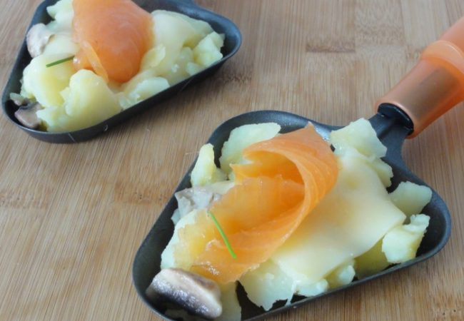 Raclette au saumon fumé