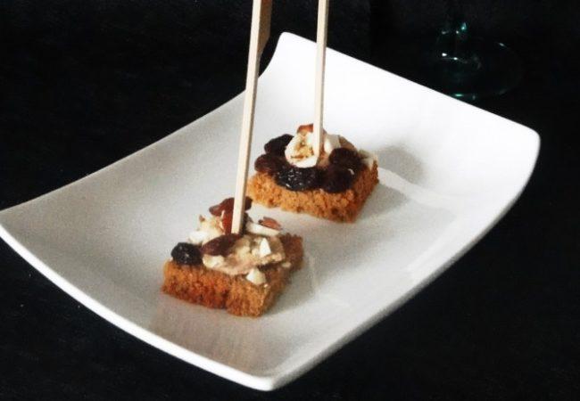 Bouchée de foie gras aux fruits secs
