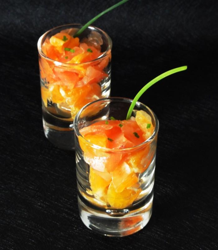 Verrine De Saumon A L Orange Aux Fourneaux