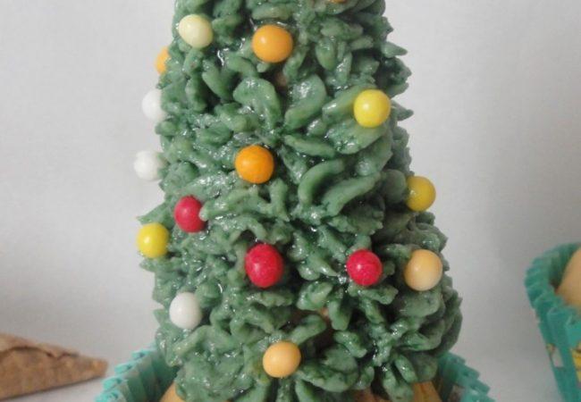 Comment faire un cupcake sapin de Noël
