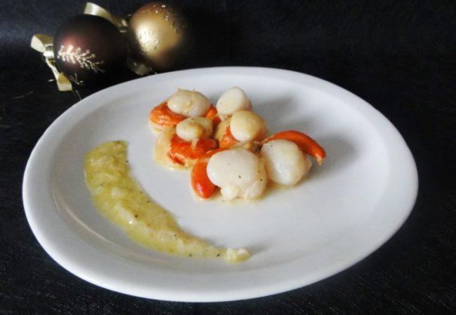 Noix de Saint Jacques au beurre d'agrumes pour une entrée festive
