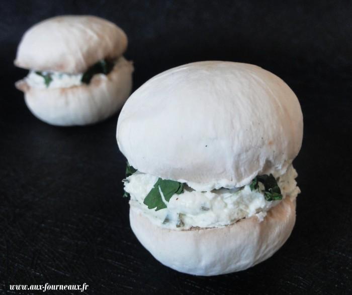 Macarons de champignons au fromage