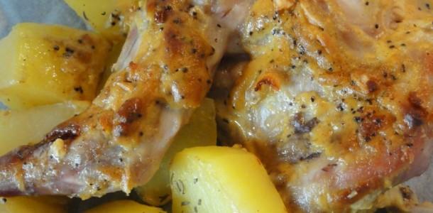 Lapin la moutarde en papillote aux fourneaux - Comment cuisiner des cuisses de lapin ...