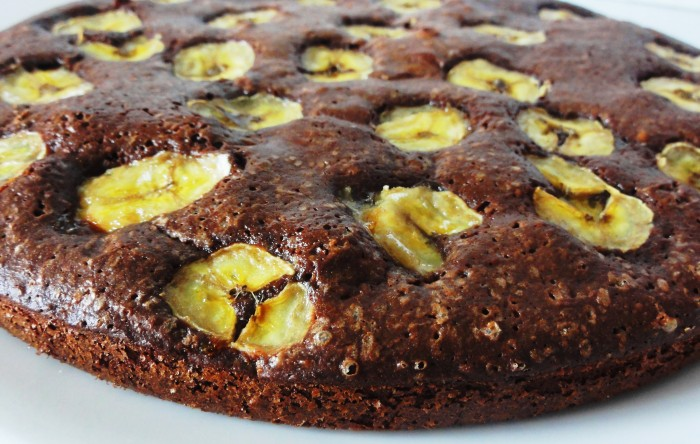 gateau fondant chocolat bananes