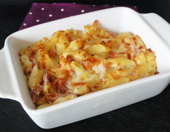 Gratin de pates aux 3 fromages