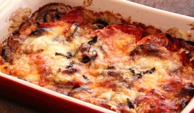 Gratin d'aubergines à l'italienne